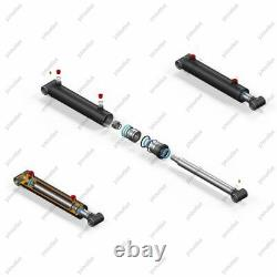 3 Bore, 12 Stroke, Hydraulic Welded Cylinder Cross Tube