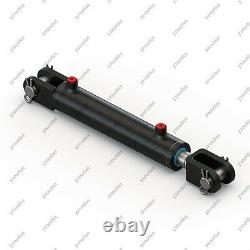 3 Bore, 36 Stroke, Hydraulic Welded Cylinder Clevis, Ports are 90° withPins