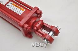 4 Bore x 24 Stroke Hydraulic Tie Rod Cylinder, 2500 PSI, 1/2 NPT Ports