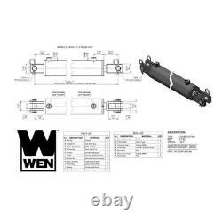 Double Acting Steel Welded Clevis Hydraulic Cylinder With 3in. Bore 30in. Stroke
