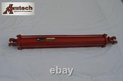 Double acting hydraulic Cylinder 3.5 Bore x 36 stroke 3000PSI SAE8 ports