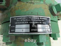 Glassport Cylinder Works Hydraulic Cylinder 6 Bore 13-13/16Stroke Flange Mount