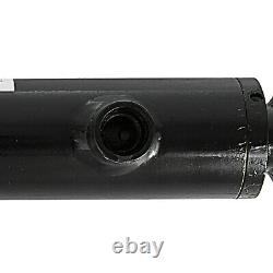 Hydraulic Cylinder 2.5 Bore 10 Stroke Double Acting Welded Cross Tube Black