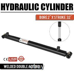 Hydraulic Cylinder 2 Bore 32 Stroke Double Acting quality Black cross tube