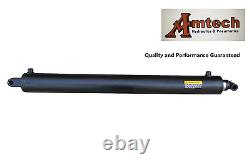 Hydraulic Cylinder 3 Bore x 30 Stroke x 39 pin-pin x 2 rod, Tang & Cross Tube