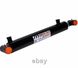 Hydraulic Cylinder Welded Double Acting 1.5 Bore 14 Stroke Cross Tube 1.5x14