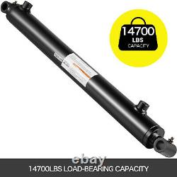 Hydraulic Cylinder Welded Double Acting 2.5 Bore 16 Stroke Cross Tube 2.5x16