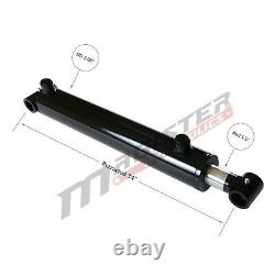 Hydraulic Cylinder Welded Double Acting 2.5 Bore 26 Stroke Cross Tube 2.5x26