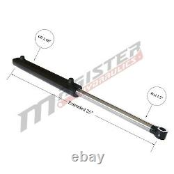 Hydraulic Cylinder Welded Double Acting 2.5 Bore 8 Stroke Tang WTG 2.5x8 NEW