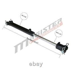 Hydraulic Cylinder Welded Double Acting 2 Bore 24 Stroke Clevis End 2x24 NEW