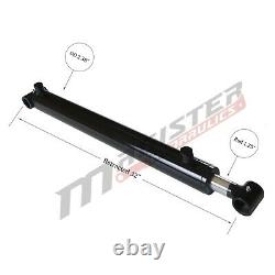 Hydraulic Cylinder Welded Double Acting 2 Bore 24 Stroke Cross Tube 2x24 NEW