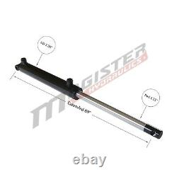 Hydraulic Cylinder Welded Double Acting 2 Bore 36 Stroke PinEye End 236 NEW