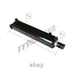 Hydraulic Cylinder Welded Double Acting 3.5 Bore 10 Stroke PinEye End 3.5x10