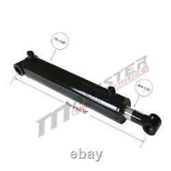 Hydraulic Cylinder Welded Double Acting 3.5 Bore 28 Stroke Cross Tube 3.5x28
