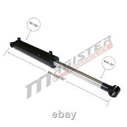 Hydraulic Cylinder Welded Double Acting 3.5 Bore 8 Stroke Cross Tube 3.5x8 NEW