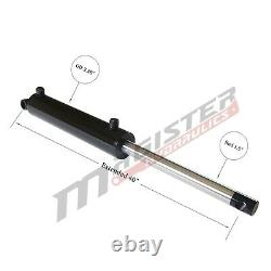 Hydraulic Cylinder Welded Double Acting 3 Bore 16 Stroke PinEye End 3x16 NEW