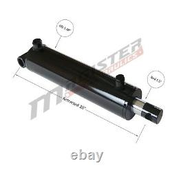 Hydraulic Cylinder Welded Double Acting 3 Bore 20 Stroke PinEye End 3x20 NEW