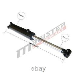 Hydraulic Cylinder Welded Double Acting 3 Bore 26 Stroke Cross Tube 3x26 NEW