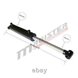 Hydraulic Cylinder Welded Double Acting 3 Bore 42 Stroke Cross Tube 3x42 NEW