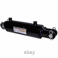 Hydraulic Cylinder Welded Double Acting 4 Bore 12 Stroke Clevis End 4x12 NEW