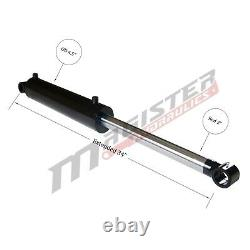 Hydraulic Cylinder Welded Double Acting 4 Bore 12 Stroke Cross Tube 4x12 NEW