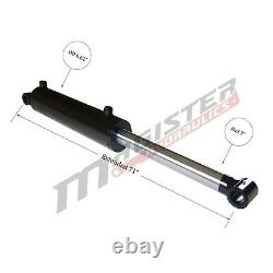 Hydraulic Cylinder Welded Double Acting 6 Bore 30 Stroke Cross Tube 6x30 NEW