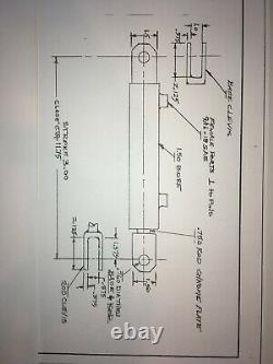 JD150300P Hydraulic Cylinder 1.5x3, 1.5 bore x 3 stroke