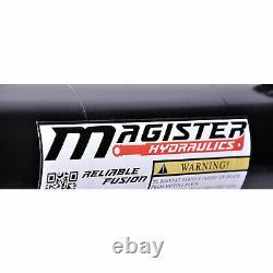 Magister Hydraulics Cross Tube Hydraulic Cylinder, 4 Bore 24 Stroke (Open Box)