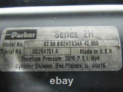 Parker 0.250BB2HTS34A42.000 Series 2H 2-1/2 Bore 42 Stroke Hydraulic Cylinder