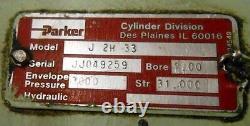Parker, Hydraulic Cylinder, J 2h 33, 4 Bore, 31 Stroke