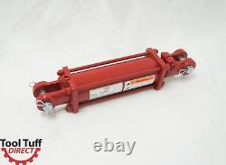 Tie Rod Cylinder, Hydraulic Double Acting, 3 Bore x 8 Stroke, NPT, 2500 psi