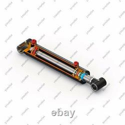 2 Embouts, 36 Avc, Cylindre Hydraulique Soudé Cross Tube