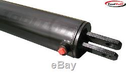 4 X 24 Bore Course Hydraulique Fendeuse Cylindre Avec Crantage Valve & Kit Tuyau