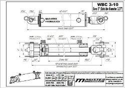 Ag Clevis Cylindre Hydraulique Soudé Double Action 3 Bore 10 Stroke Wbc 3x10