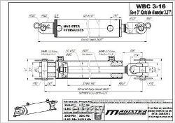 Ag Clevis Cylindre Hydraulique Soudé Double Action 3 Bore 16 Stroke Wbc 3x16