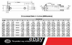 Chef 3000 Psi Wp Cylindre Hydraulique Soudé Avec 4 Po. Arrière X 60 Po. Accidents Cérébraux