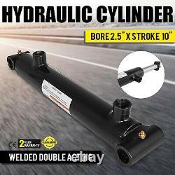 Cylindre Hydraulique 2.5 Alésage 10 Temps Double Acting Soudé Cross Tube Noir