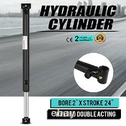 Cylindre Hydraulique 2 Bore 24 Stroke Double Acting 3000psi Garden Cross Tube