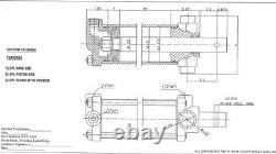 Cylindre Hydraulique, 3 Alésage X 1,25 Tige X 18 Avc, Double Acteur