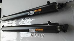 Cylindre Hydraulique 3bore X 39 X 30stroke Escamotée, Tang & Cross, Remorque