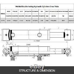 Cylindre Hydraulique Double Effet Soudés 2.5 Bore 48 Cross Tube Stroke 2.5x48