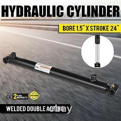 Cylindre Hydraulique Pour Chargeur Soudé Double Action 1.5 Bore 24 Temps 1.5x24