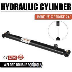 Cylindre Hydraulique Pour Chargeuse Soudée Double Action 1.5 Alésage 24 Course 1.5x24