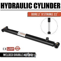 Cylindre Hydraulique Soudé À Double Action 2 Bore 22 Tube Croisé À Coupons 2x22