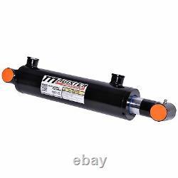 Cylindre Hydraulique Soudé Double Acteur 2 Alésage 8 Coups De Tube De Traverse 2x8 Nouveau