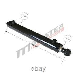 Cylindre Hydraulique Soudé Double Acting 2.5 Bore 12 Stroke Tang Wtg 2.5x12 Nouveau