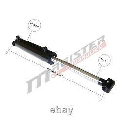 Cylindre Hydraulique Soudé Double Acting 3 Bore 10 Stroke Cross Tube 3x10 Nouveau