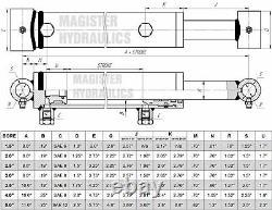 Cylindre Hydraulique Soudé Double Acting 3 Bore 30 Stroke Cross Tube 3x30 Nouveau