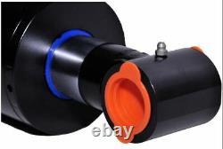 Cylindre Hydraulique Soudé Double Acting 4 Bore 24 Stroke Cross Tube 4x24 Nouveau