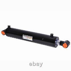 Cylindre Hydraulique Soudé Double Acting 4 Bore 28 Stroke Cross Tube 4x28 Nouveau